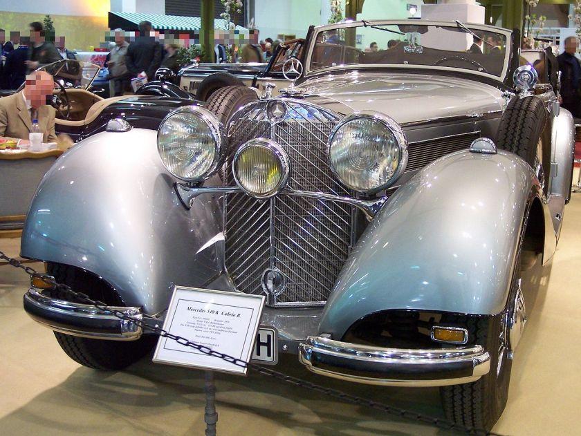 1938 Mercedes Benz 540K Cabriolet B Silver