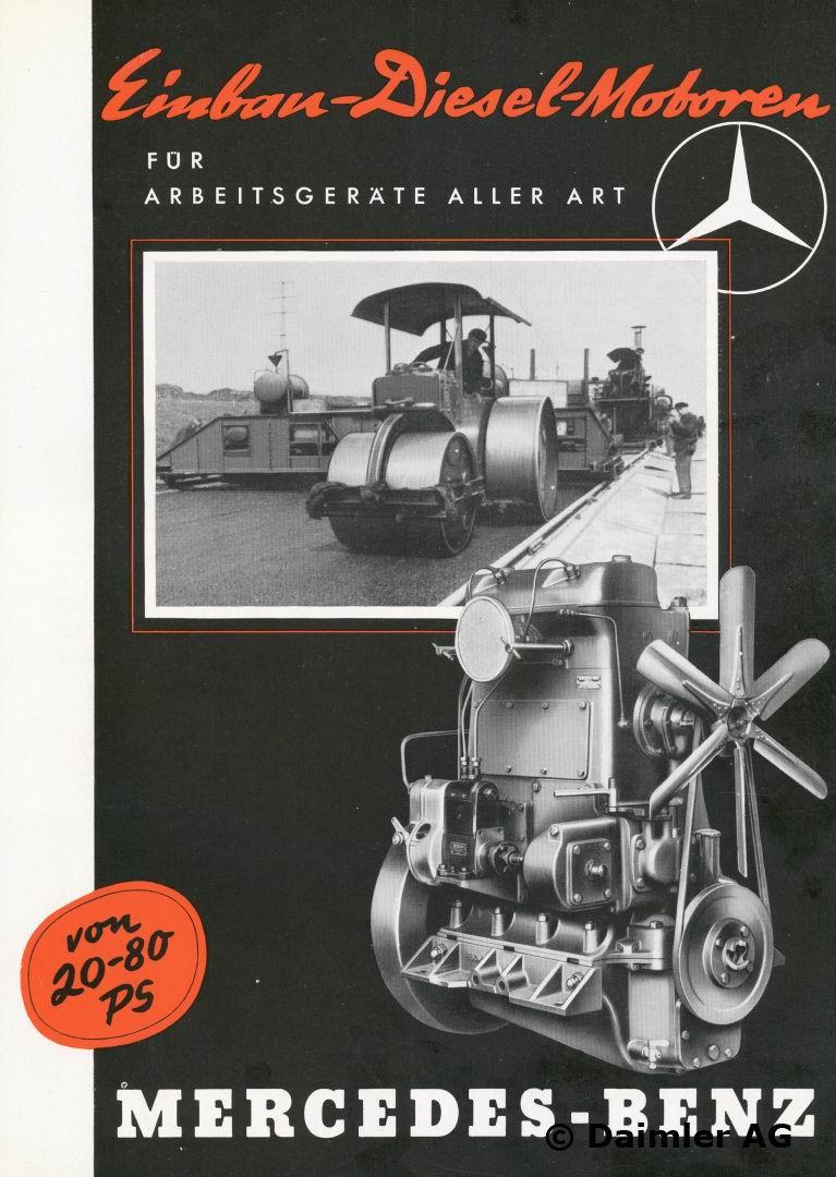Der Mercedes-Benz Rekord-Flugmotor Typ DB 600, Faltprospekt, November 1938.