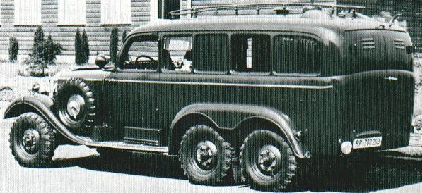 1939 Mercedes Benz G4 Reichspost Radiostation
