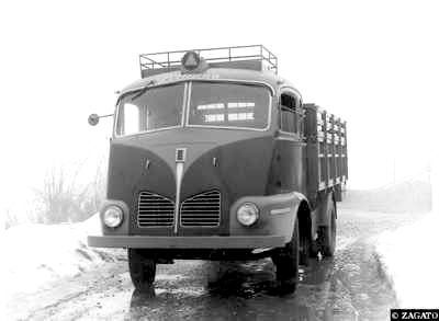 1940-55 Isotta Fraschini met cabine van carrosseria Zagato
