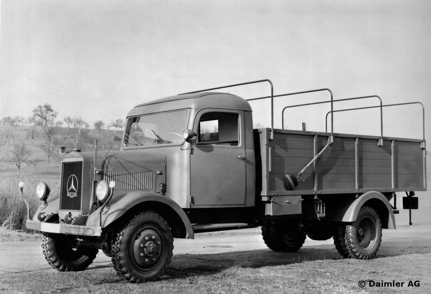 1940 Gaggenau 2 plant. MB 3-tonner L 3000 A truck, all-wheel drive, with 4- cyl. 80-hp diesel engine