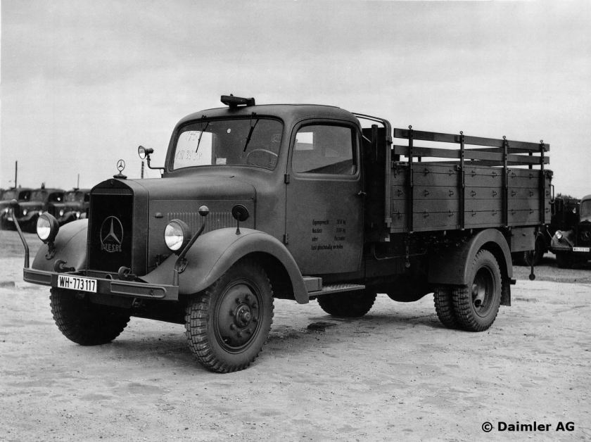 1940 Mannheim plant 3. Off-road LGF 3000 truck. 3-tonner with platform truck body in Army configuration
