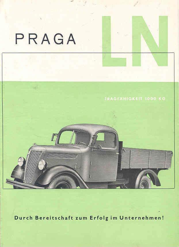 1940 Praga Model LN Truck Brochure Czechoslovakia wf9915