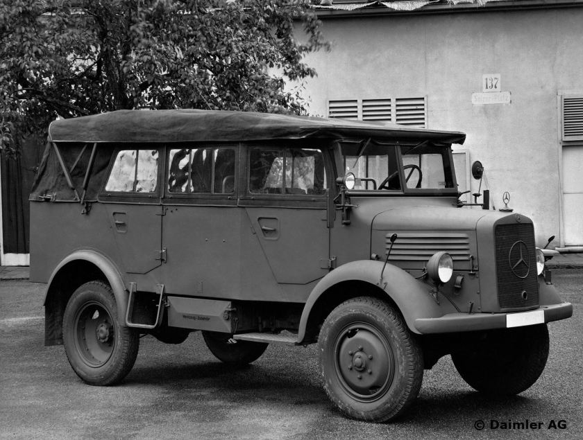 1941-42 Central management and plants, Stuttgart-Untertürkheim. MB L 1500 A personnel carrier