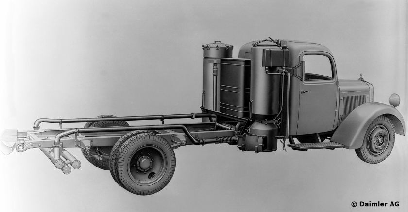 1941-44 Mercedes Benz solid gasification unit or gas generator for the L 4500 S