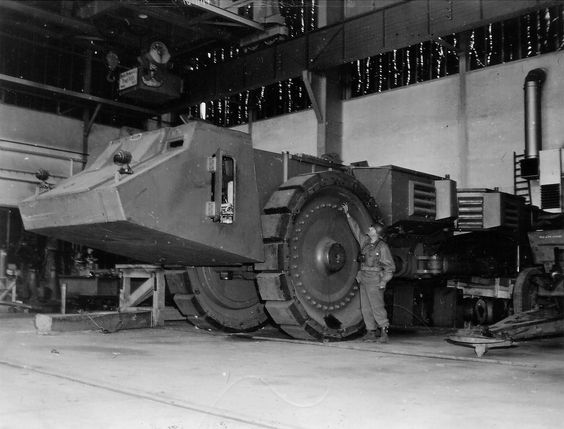 1945 Krupp Raumer heavy minesweeper vehicle was built as the prototype seen in this picture taken in Germany in May 1945