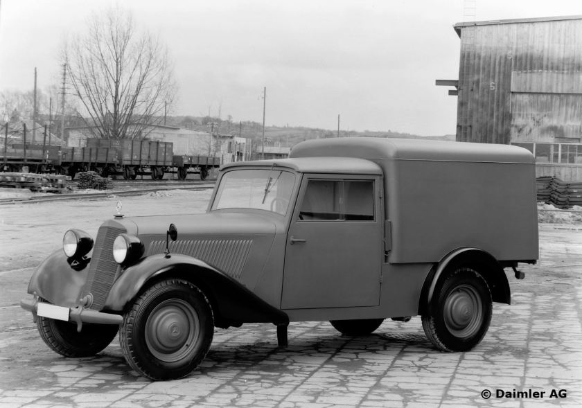 Mercedes Benz Typ 170 V, 38 PS, Kasten-Lieferwagen, Bauzeit: 1946 bis 1949.