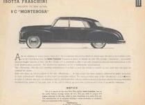 1949 Isotta Fraschini 8C Monterosa Streamline Brochure.