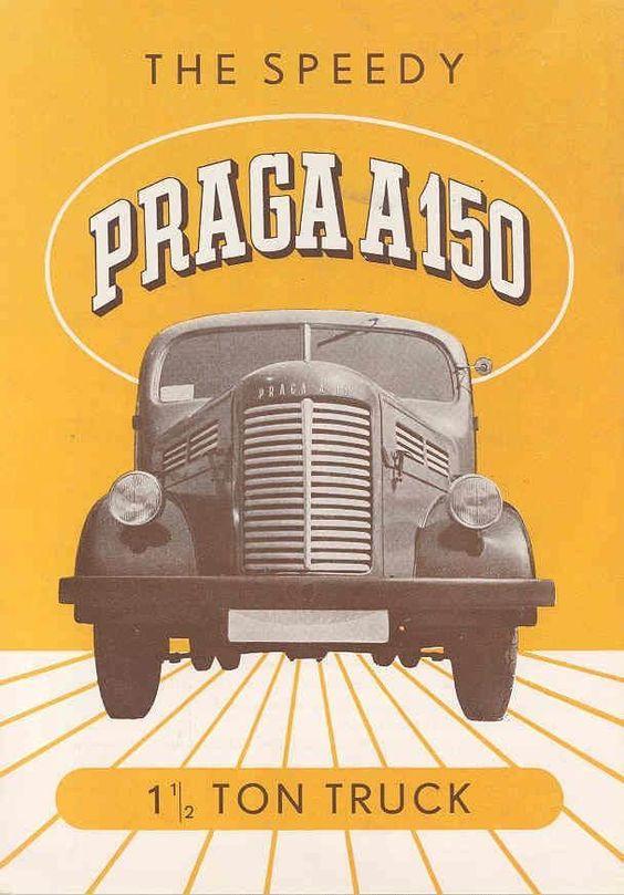 1949 Praga A150 1.5 Ton Truck Brochure Czechoslovakia
