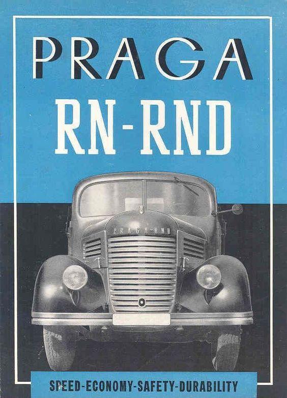 1949 Praga RN RND Diesel Truck Brochure
