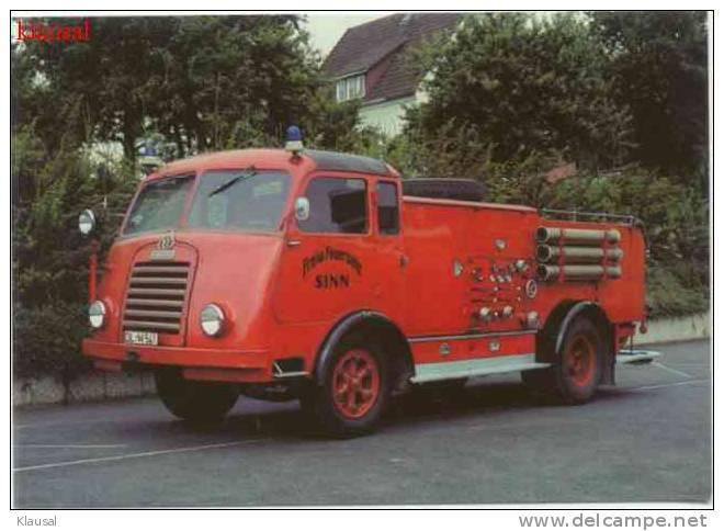 1952 ch35 Feuerwehr Löschfahrzeug LF20 der Krupp-Südwerke FL45