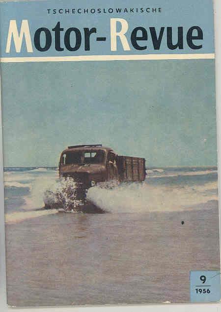 1956 Czechoslovakia Motor Magazine Brochure Praga Skoda 440 Car Truck wr8229
