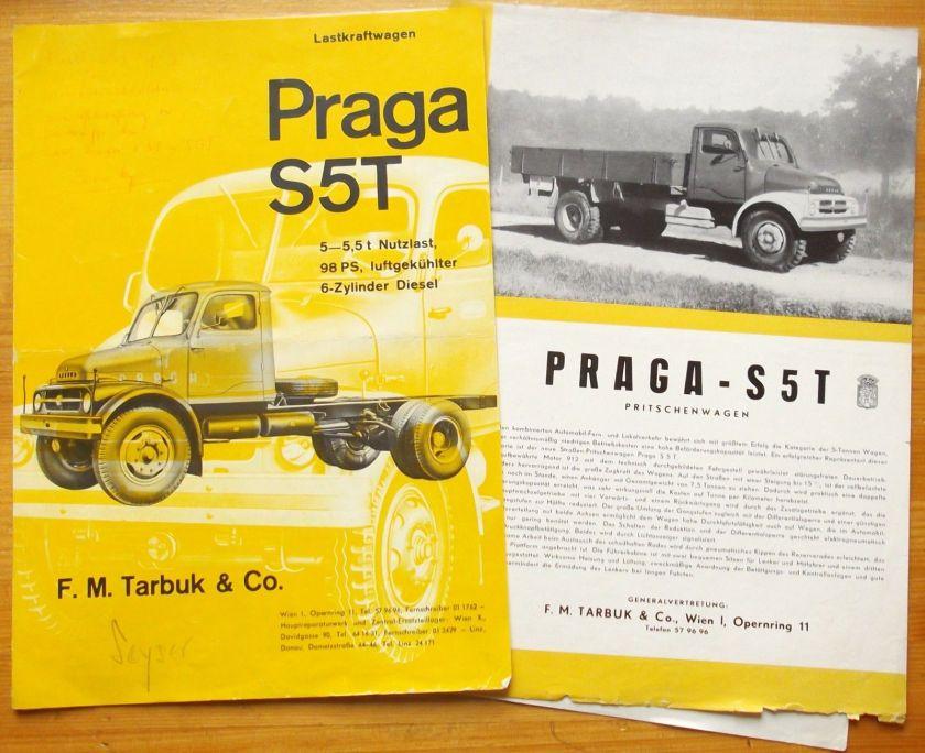 1960 Prospekt brochure Katalog LKW Praga S5T S5T-K S 5 T - K ed. 06-1960