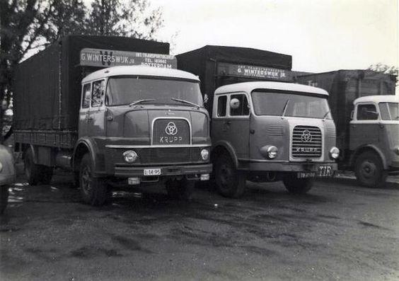 1960's Krupp L-14-95 en Krupp en Daf Winterswijk Rotterdam