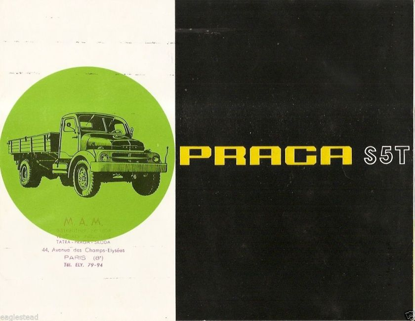 1960's Truck Brochure - M.A.M - Praga S5T - set of 2 items - c1960's (TB620)