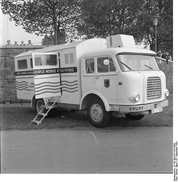 1961 Krupp Bundesarchiv B 145 Bild-F011413-0005, Düsseldorf, Hilfsfahrzeuge für Westafrika