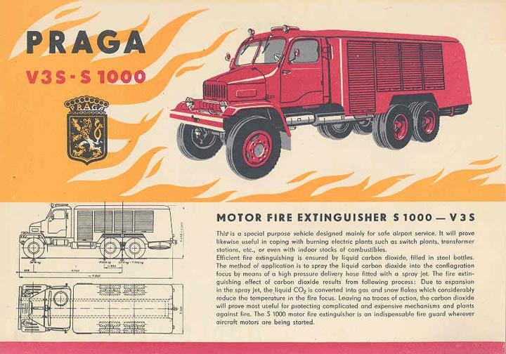 1961 Praga Airport Fire Truck Brochure Czechoslovakia wo8130-JGVXG2