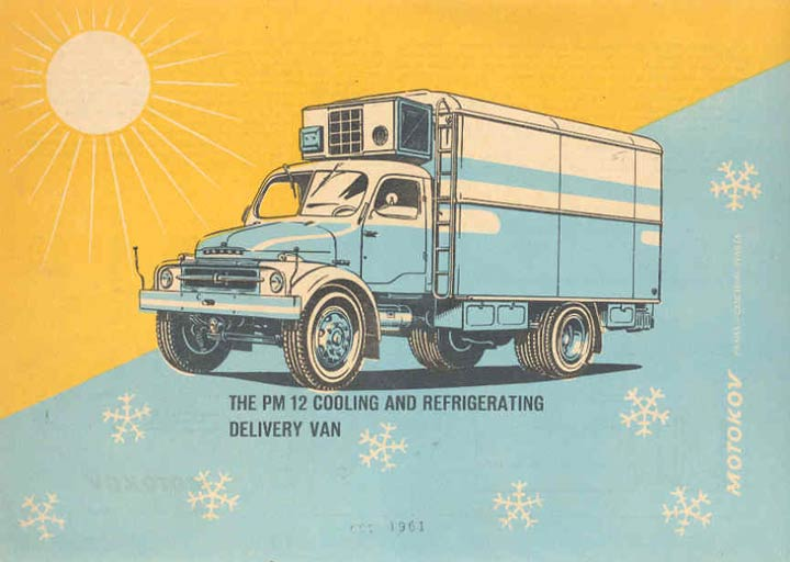1961 Praga Refrigerated Truck Brochure Czechoslovakia wk5794