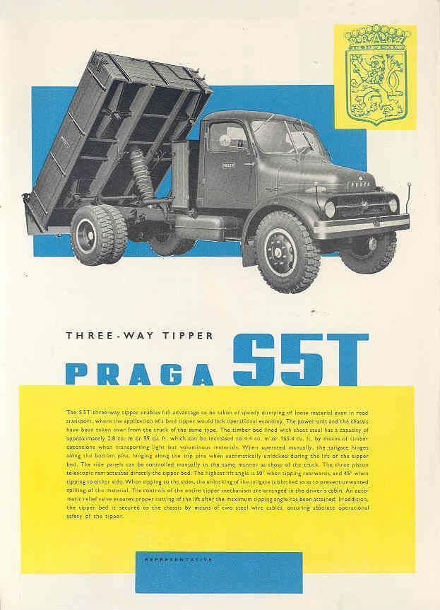 1961 Praga S5T Dump Truck Brochure Czechoslovakia wj6888