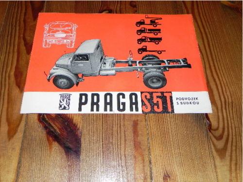 1961 Praga S5T Lkw Truck Camion 1961 CSSR prospekt RAR brochure DDR CS