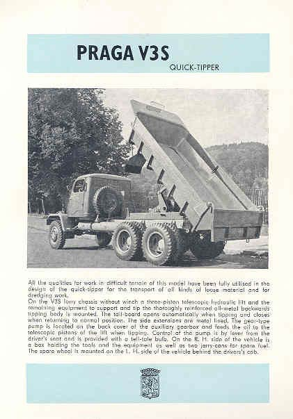 1961 Praga V3S Dump Truck Brochure Czechoslovakia wh8345
