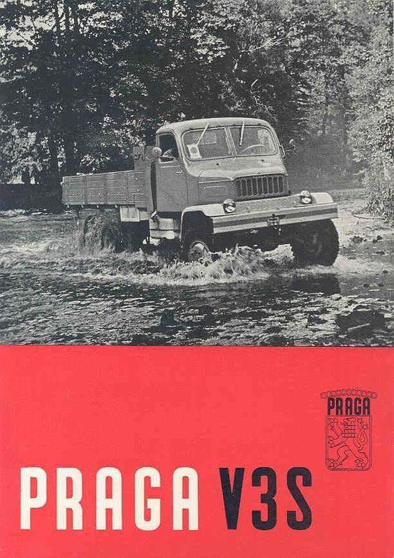 1961 Praga V3S Platform Truck Brochure