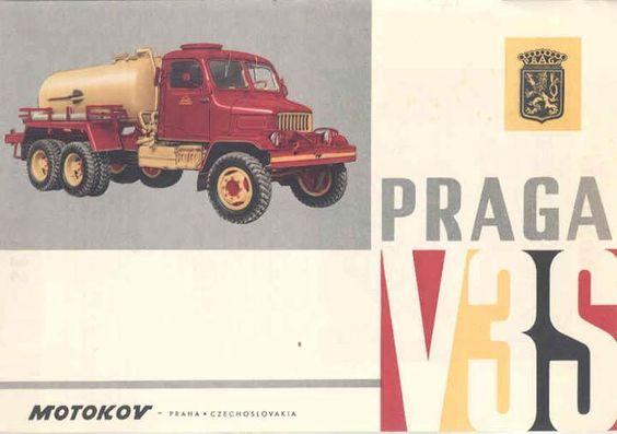 1961 Praga V3S Tank Truck Brochure Czechoslovakia