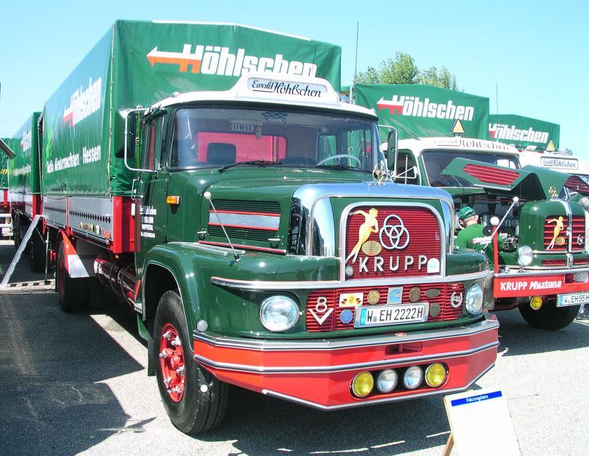 1962 Krupp 1080, Cummins V8 Dieselmotor V 903, 236 Kw (320 PS) bei 2400 u-min, 13400 ccm Hubraum, 105 km-h