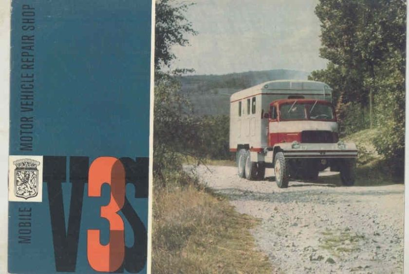 1966 Praga V3S Mobile Motor Vehicle Repair Truck Brochure wv6737