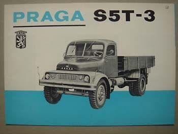 1968 PRAGA S 5 T-3 truck brochure, 1968