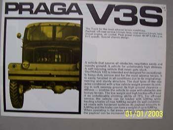1969 PRAGA V3S Prospekt-brochure