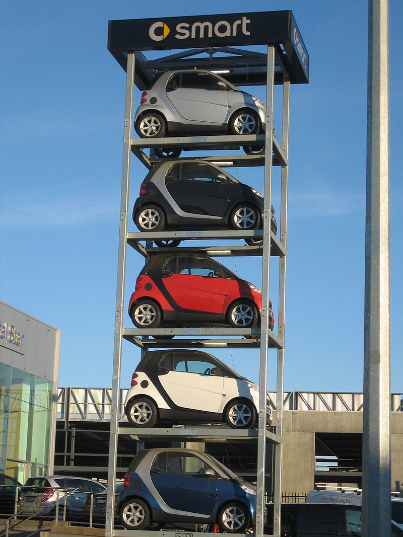 2008 A Stack of Smart vehicles in Canberra