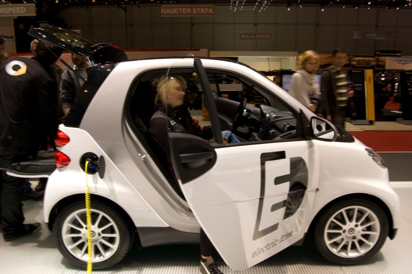 2009 Smart Electric Drive en el Salón de Ginebra 2009.