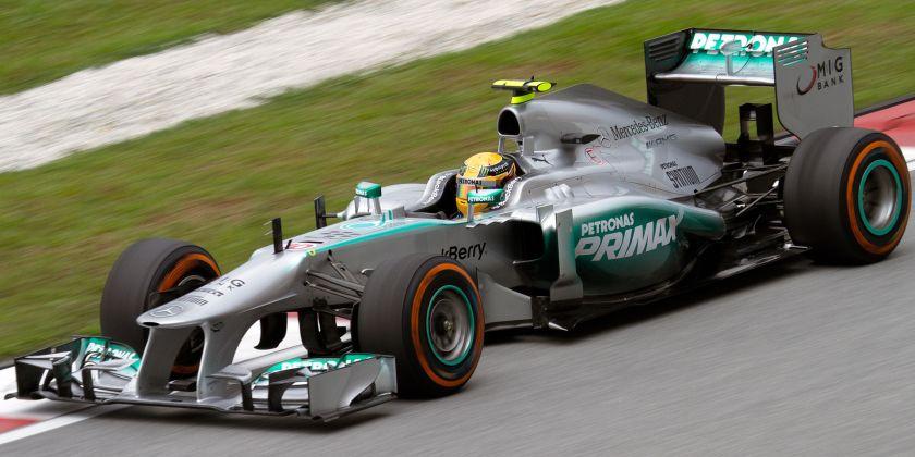 2013 Mercedes F1 W04 Lewis Hamilton Malaysia FP2 1