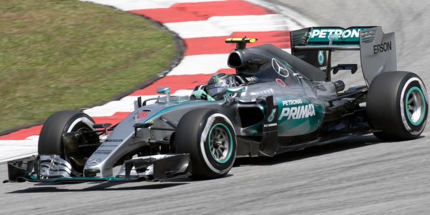 2015 The F1 W06 Hybrid, driven by Nico Rosberg, during the 2015 Malaysian Grand Prix