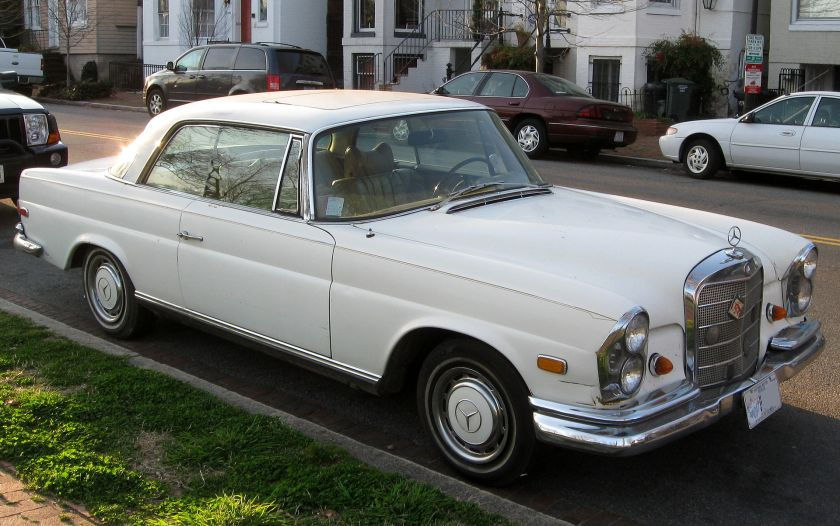 A Mercedes Benz 280SE W 111 Coupe