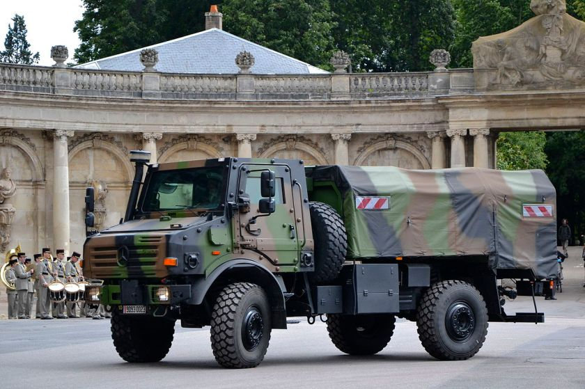 Armoured Unimog of the French Army.