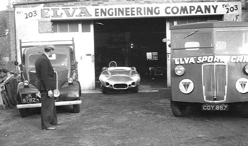 Elva1 Early Fordson dropside pickup used by Elva cars