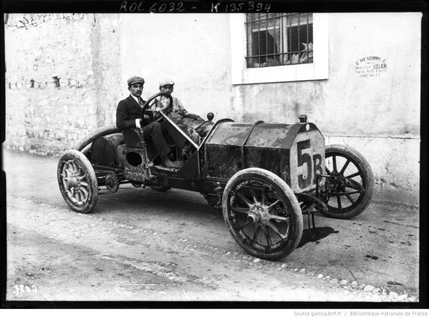 [Ferdinando] Minoia, 1er sur Isotta-Fraschini, Coupe Florio, course