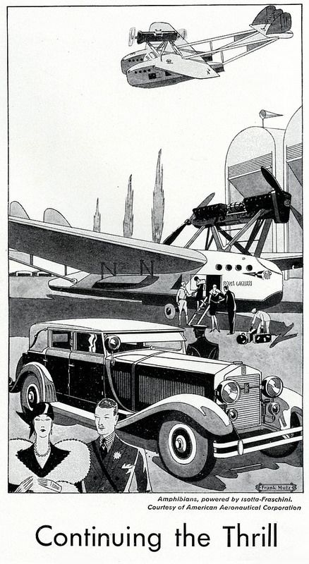 Isotta-Fraschini drawing ad