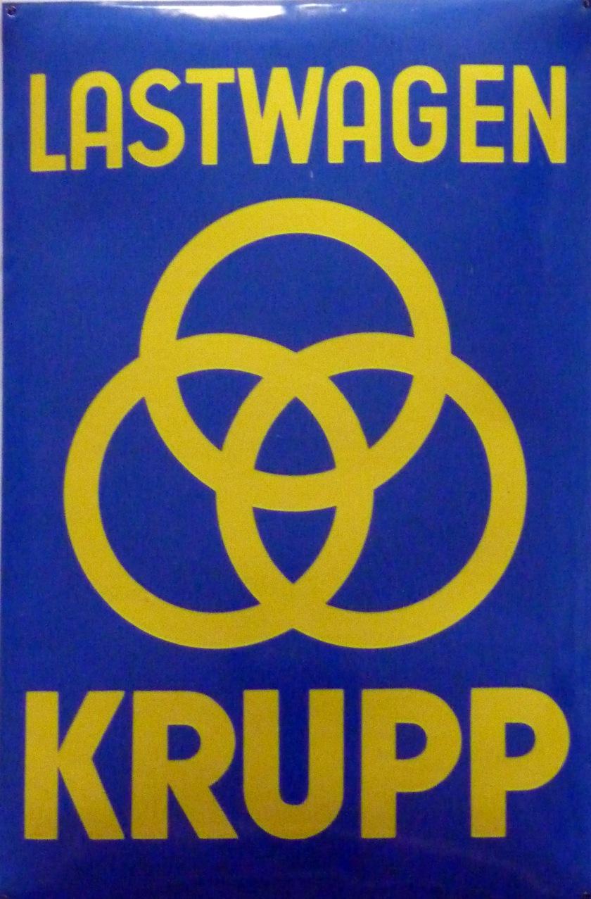 Lastwagen Krupp Reklame