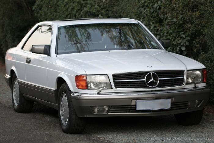 Mercedes Benz 560 SEC (front)