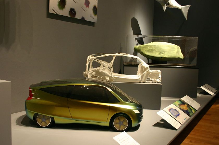 Mercedes Benz bionic car at Metropolitan Museum of Modern Art Design and the Elastic Mind