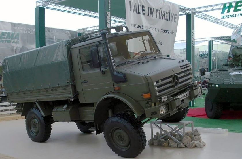 Mercedes Benz Unimog at IDEF'07 arms fair in Turkey