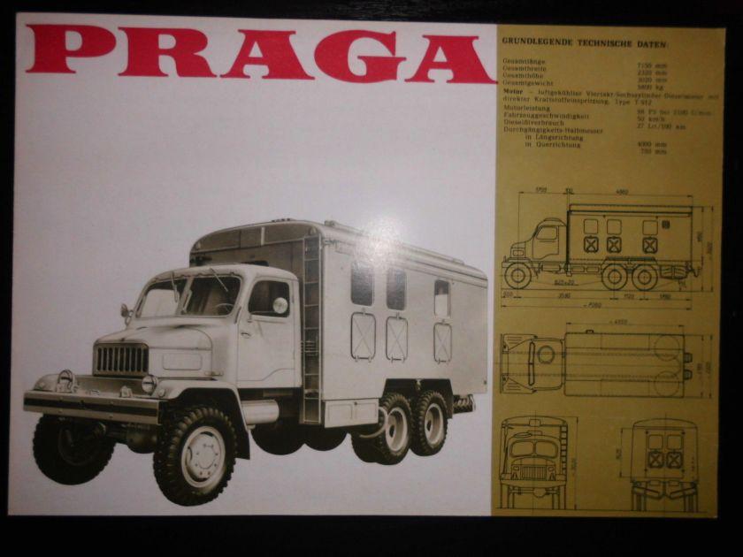 Original Prospekt Sales Brochures Praga V3S Repraturwerkstattwagen LKW Truck