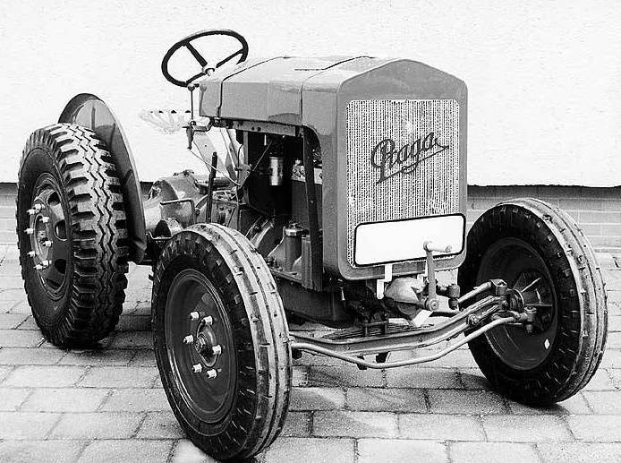Praga AT tractor was built in Czechoslovakia by Praga