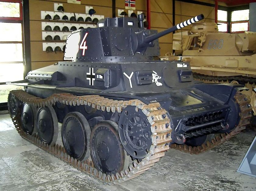 Praga Panzer 38(t) Ausführung S in the German Panzermuseum in Munster