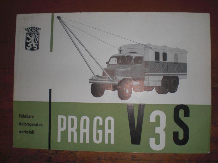 Prospekt Sales Brochure Praga Autoreparaturwerkstatt Truck camion автомобиль
