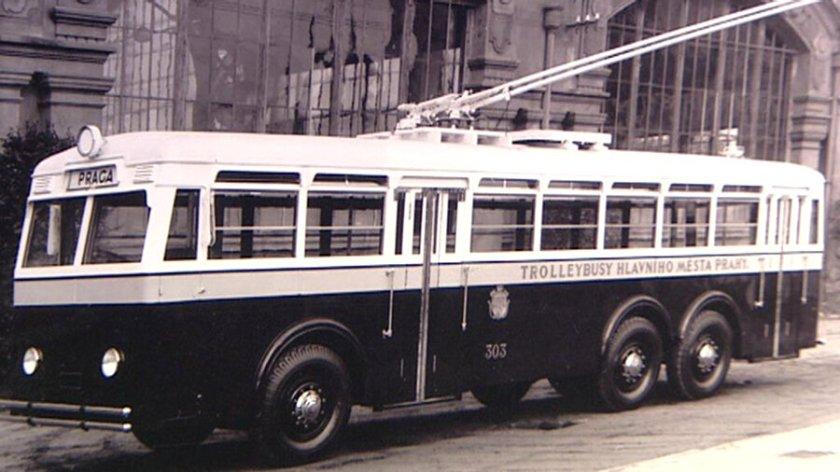 trolejbus Praga 303 TOT