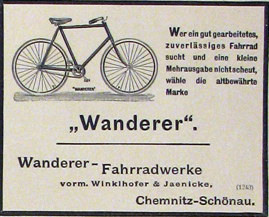 1898 Wanderer-annonce